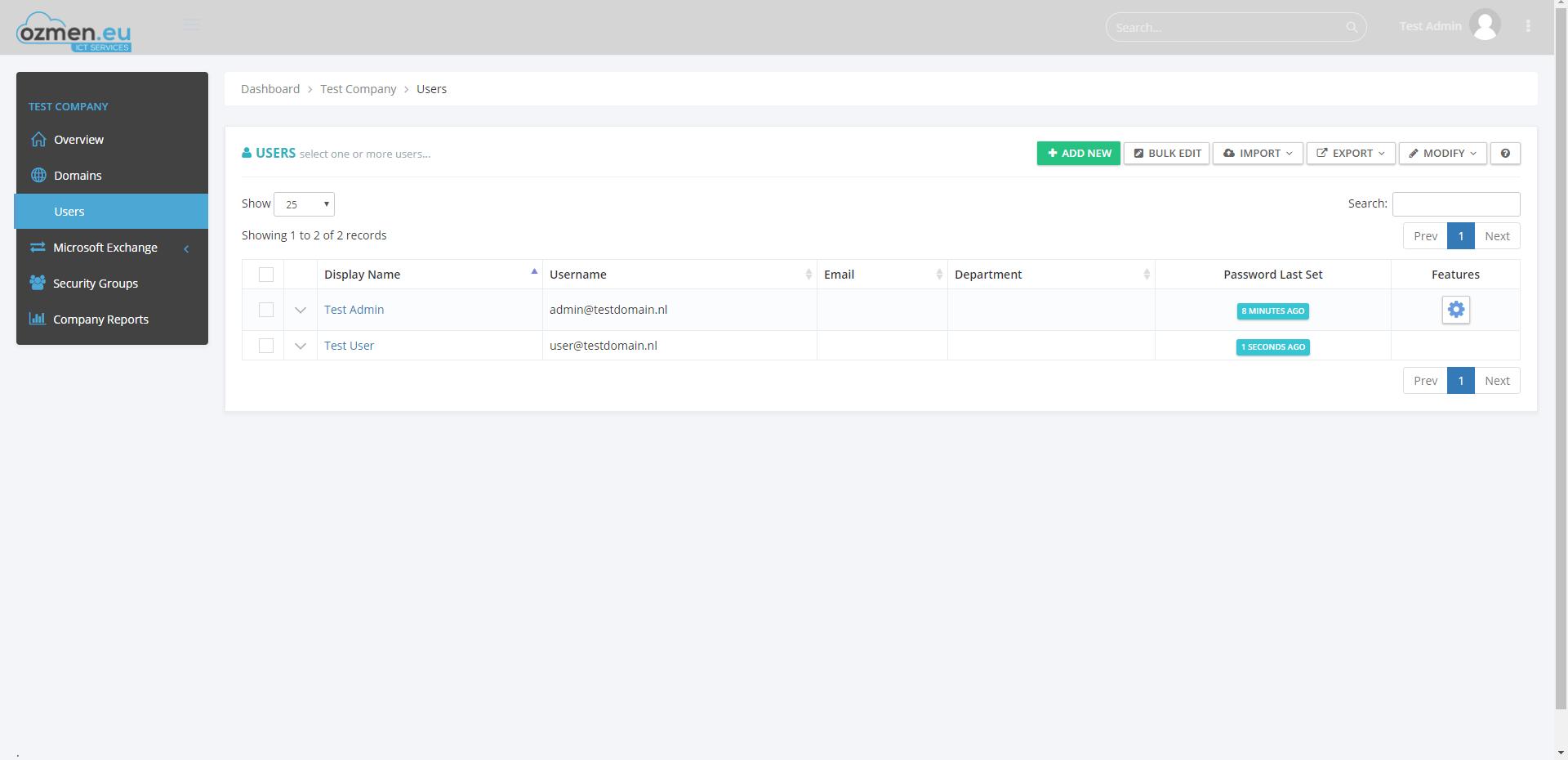 Voeg/Verwijder/Lock/Unlock gebruikers in een handomdraai